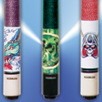 Graphic Pool Cues