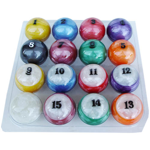 Sterling Designer Candy Pool Balls Set Cue Accessories