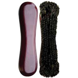 "Standard 10.5"" Horse Hair Pool Table Brush - Mahogany"