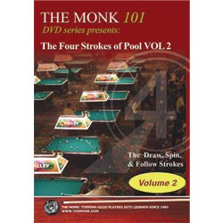 The Monk 101 DVD - The Four Strokes of Pool, Volume 2