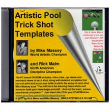 Artistic Pool Trick Shot Templates CD