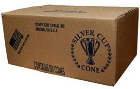Silver Cup Cone Chalk Case of 6