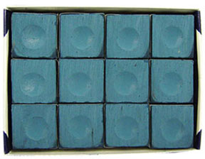 Silver Cup Chalk, Blue, 12 Piece Box