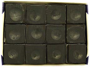 Silver Cup Chalk, Black, 12 Piece Box