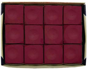Silver Cup Chalk, Burgundy, 12 Piece Box