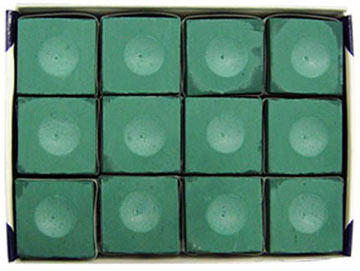 Silver Cup Chalk, Green, 12 Piece Box