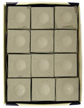 Silver Cup Chalk, Pewter, 12 Piece Box