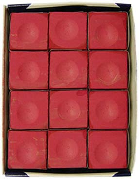 Silver Cup Chalk, Red, 12 Piece Box