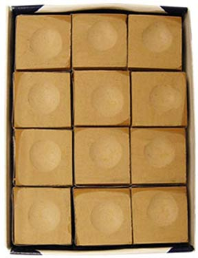 Silver Cup Chalk, Tan, 12 Piece Box