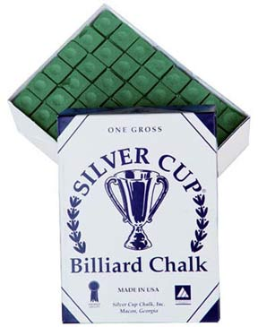 Silver Cup Chalk, Green, 144 Piece Box