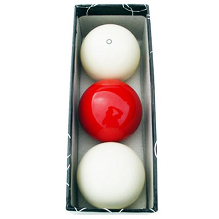 Carom Billiard Balls: White, Red, White W/ Red Circle