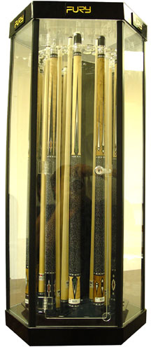 Sterling Deluxe Rotating Display Case,  (24 Cues)