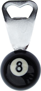8 Ball Bottle Opener 1 1/2 Inch