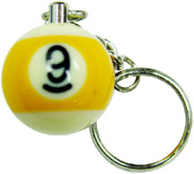 9 Ball Key Chain