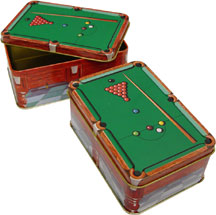 Metal Chalk Holder Box, Snooker Table Design