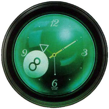 Glowing 8 Ball Neon Clock