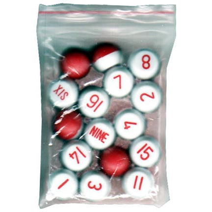 Plastic Tally Ball Set
