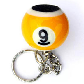 Pool Ball Key Chain and Scuffer, 9-Ball