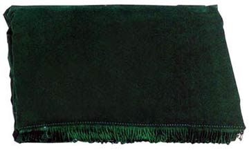 Deluxe 7Ft. Crushed Velvet Pool Table Cover, Green
