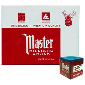 Master Chalk, Blue, 12 Piece Box