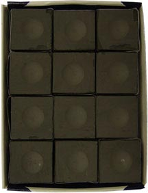 Silver Cup - Charcoal Pool Chalk - 12 Pc. Box